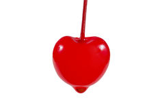 Red love cherry. Royalty Free Stock Photo
