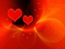 Red love fantasy stock photos