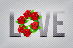 Red love flowers illustration designs Stock Photography