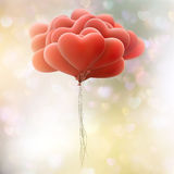Red love flying balloons. EPS 10 Royalty Free Stock Image