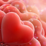 Red love flying balloons. EPS 10 Stock Photography