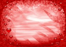 Red love frame royalty free stock photography