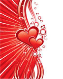 Red love greeting cards Royalty Free Stock Photo
