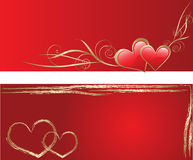 Red love greeting cards. Two red love greeting cards Stock Photography