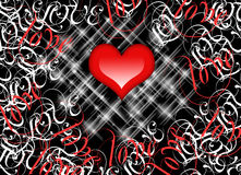 Red Love Heart . Royalty Free Stock Photo