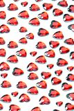 Red love heart background Stock Image