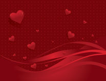 Red love heart background. Illustration of decorative red love heart background with copy space Royalty Free Stock Photo