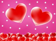 Red love heart background Stock Photo