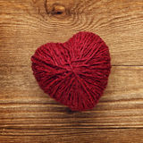Red love heart ball of wool Royalty Free Stock Image