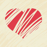 Red Love Heart Stock Photography