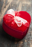 Red love heart gift box Stock Images