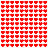 Red love heart pattern Stock Photos