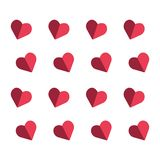 red love heart set icons isolated on white. background royalty free illustration