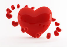 Red love heart sign Royalty Free Stock Photos