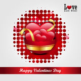 Red love heart, valentines day concept Royalty Free Stock Image