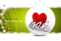 Red love heart, valentines day concept Royalty Free Stock Photos