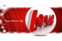 Red love heart, valentines day concept Royalty Free Stock Photo