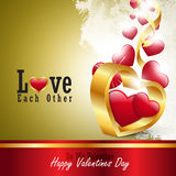 Red love heart, valentines day concept Stock Image