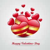 Red love heart, valentines day concept Stock Images