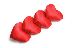 Red Love Hearts Stock Photography