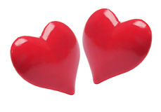 Red Love Hearts Stock Images