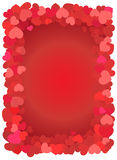 Red love hearts Royalty Free Stock Images