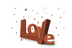 red love hearts card or letter stock photo