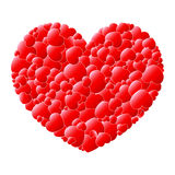 Red love hearts in a heart. Background vector illustration