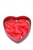 Red Love Hearts In Open Tin Royalty Free Stock Photography