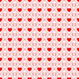 Red love hearts repeated texture. Saint Valentines Day vector background. Romantic seamless pattern for greeting cards stock illustration