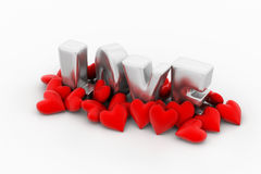 Red love hearts Royalty Free Stock Photos