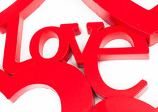 Red love label Stock Photography