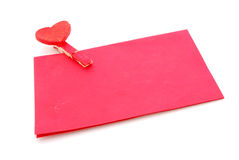 Red love letter Stock Photography