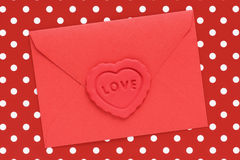 Red love letter Royalty Free Stock Photo