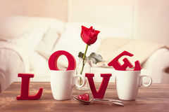 Red Love Letters For Valentines Day Royalty Free Stock Photos