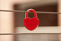Red Love Lock Royalty Free Stock Photography