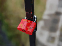 Red Love Lock Stock Images