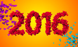 2016 Red Love Particles 3D Stock Image