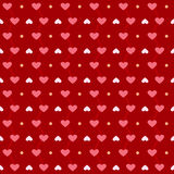Red love pattern Royalty Free Stock Image