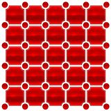 Red love tile Stock Photography
