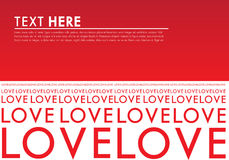 Red love Typo Background Royalty Free Stock Photo