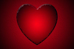 Red lovely heart Royalty Free Stock Photography