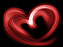 Red lovely heart grunge background Royalty Free Stock Photos