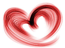 Red lovely heart grunge background Stock Images