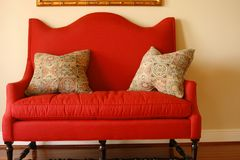 Red Loveseat stock photos