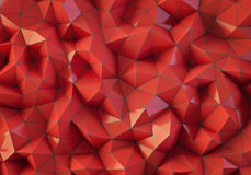 Red low poly background Stock Photography