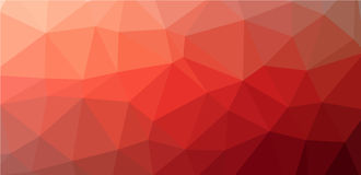 Red Low polygon background Stock Photos