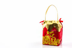 Red lucky bag. Stock Images