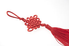 Red lucky china knot Stock Photos