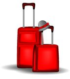 Red luggage Stock Photography